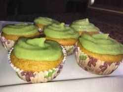 Carrot Cupcakes with Avocado Frosting